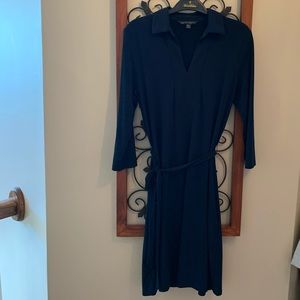 Brooks Brothers Navy Belted Dress